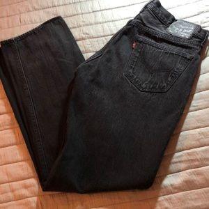 Levi classic 501 button front black jeans size 36